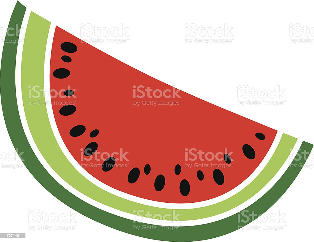 watermelon slice vector art illustration