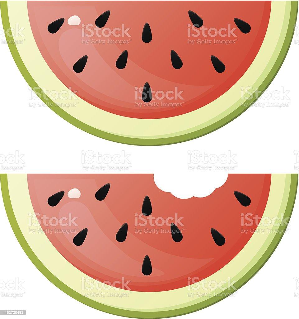 Watermelon Slices vector art illustration
