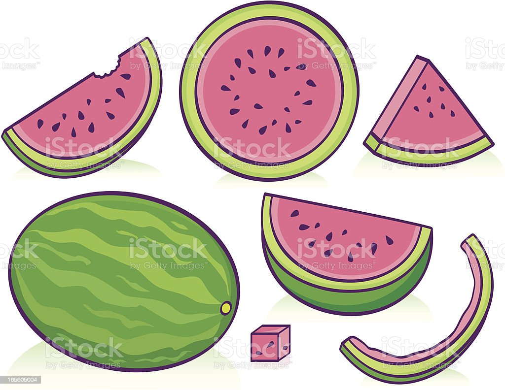 Watermelon royalty-free stock vector art