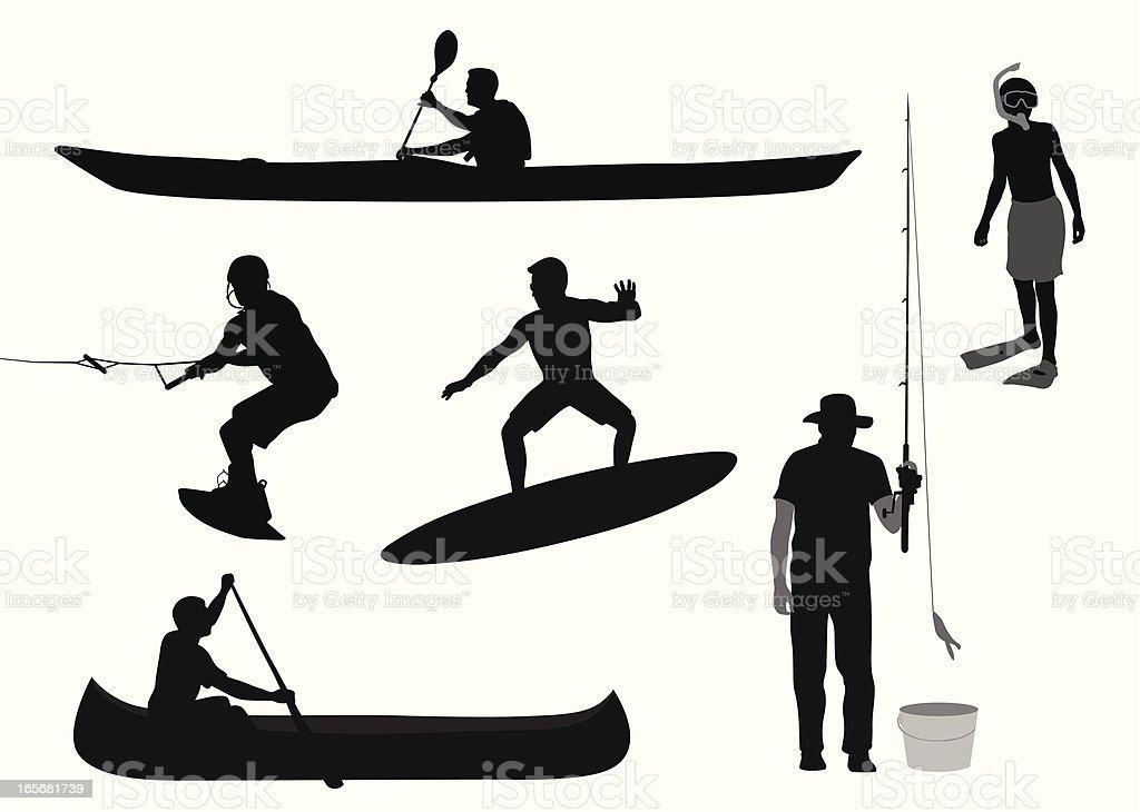 WaterSports vector art illustration