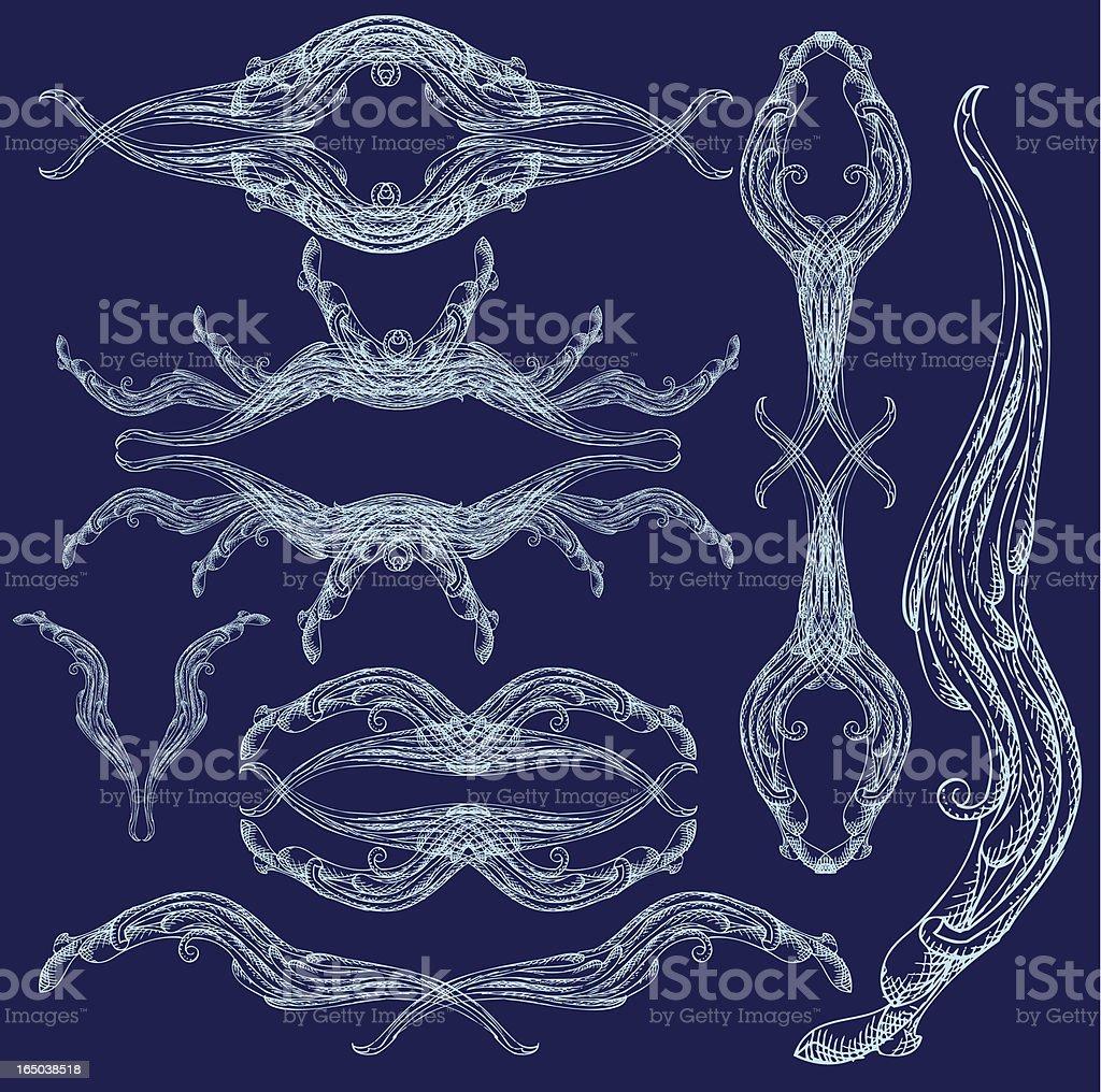 Wasser-Vektor-Elemente, flow Lizenzfreies vektor illustration