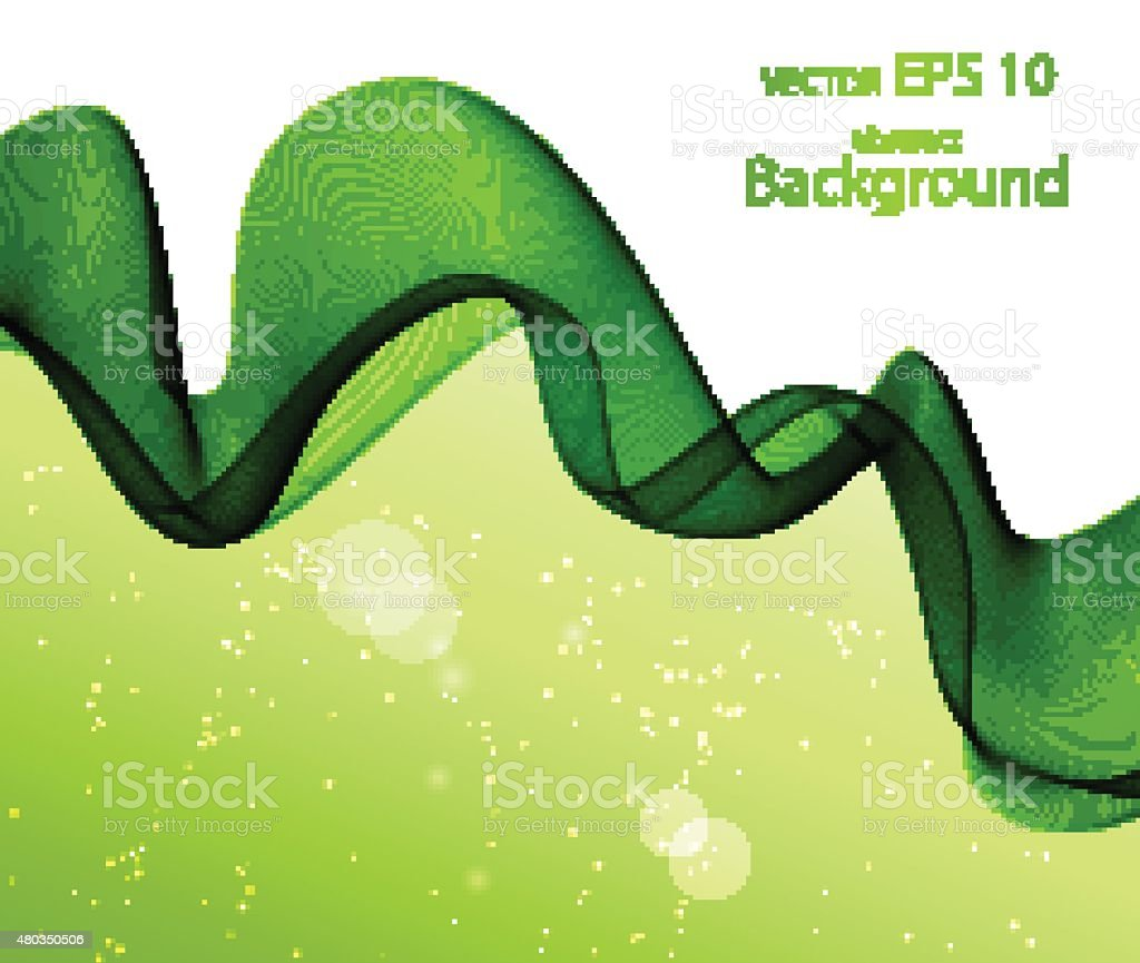 Wave abstract images, color design vector art illustration