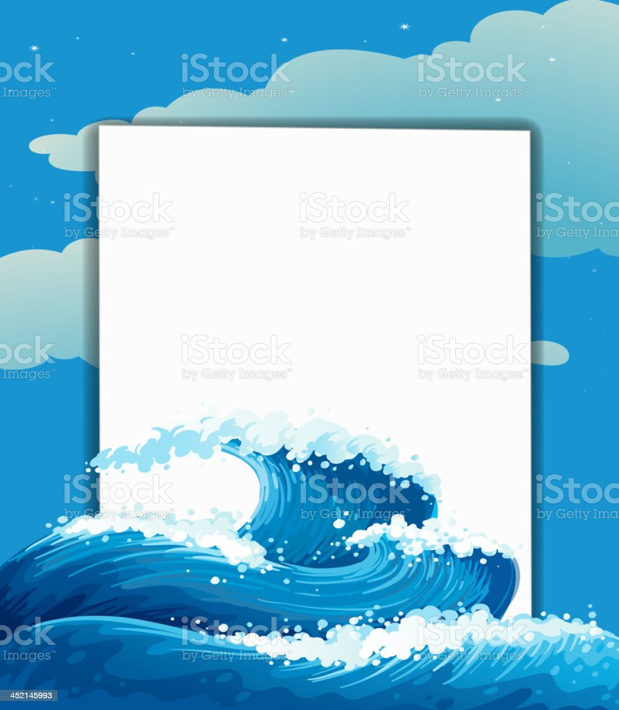 Wave and an empty sheet royalty-free stock vector art