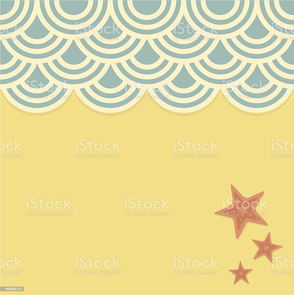 Wave and Beach royalty-free stock vector art