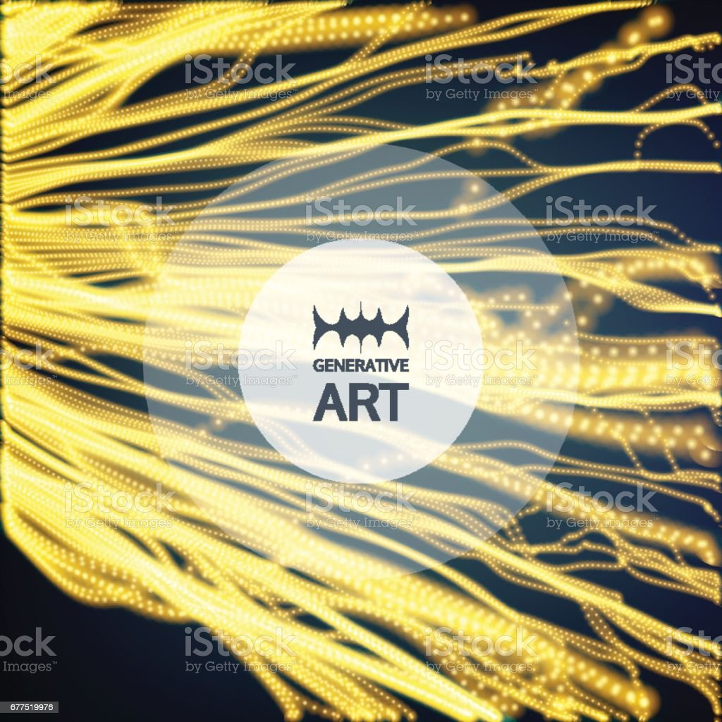 Wave Background. Ripple Grid. Abstract Vector Illustration. vector art illustration