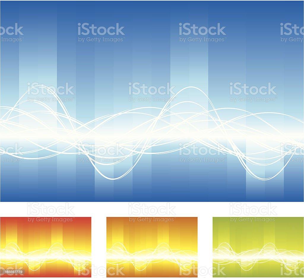 Wave Background vector art illustration