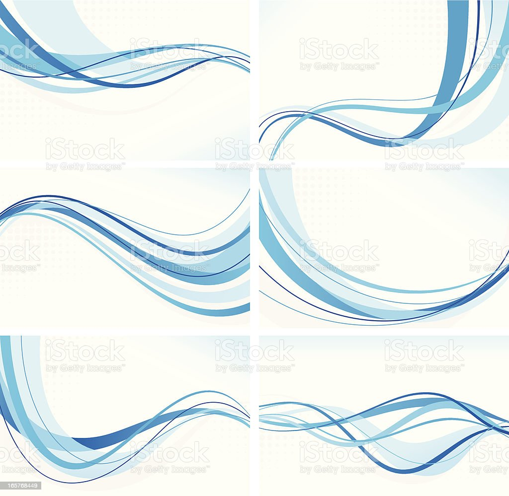 Wave Backgrounds royalty-free stock vector art