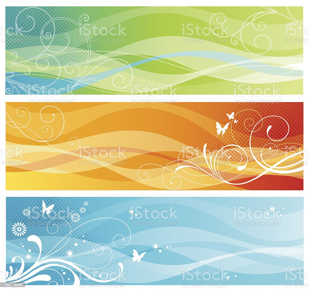 Wave Banners royalty-free stock vector art