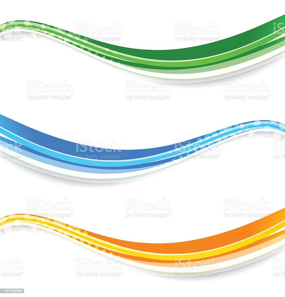 wave banners vector art illustration