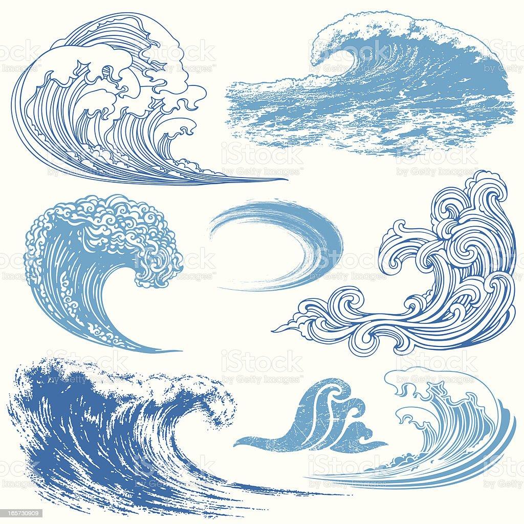 Wave Elements vector art illustration