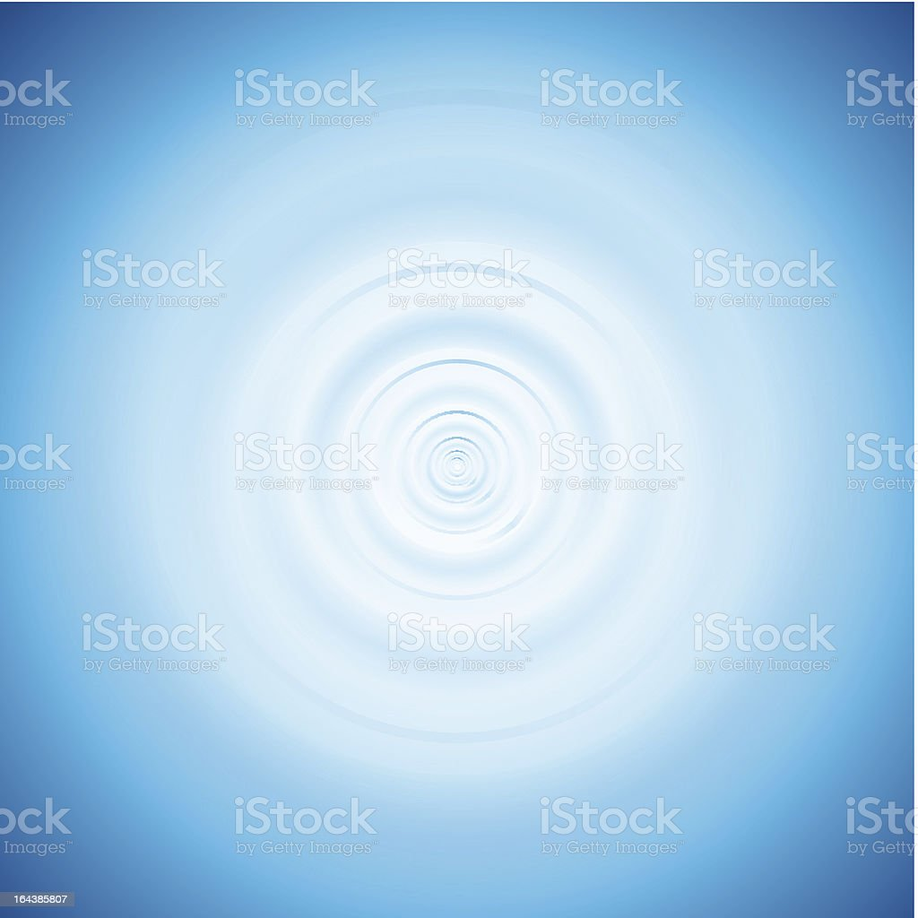 Wave from water drop royalty-free stock vector art