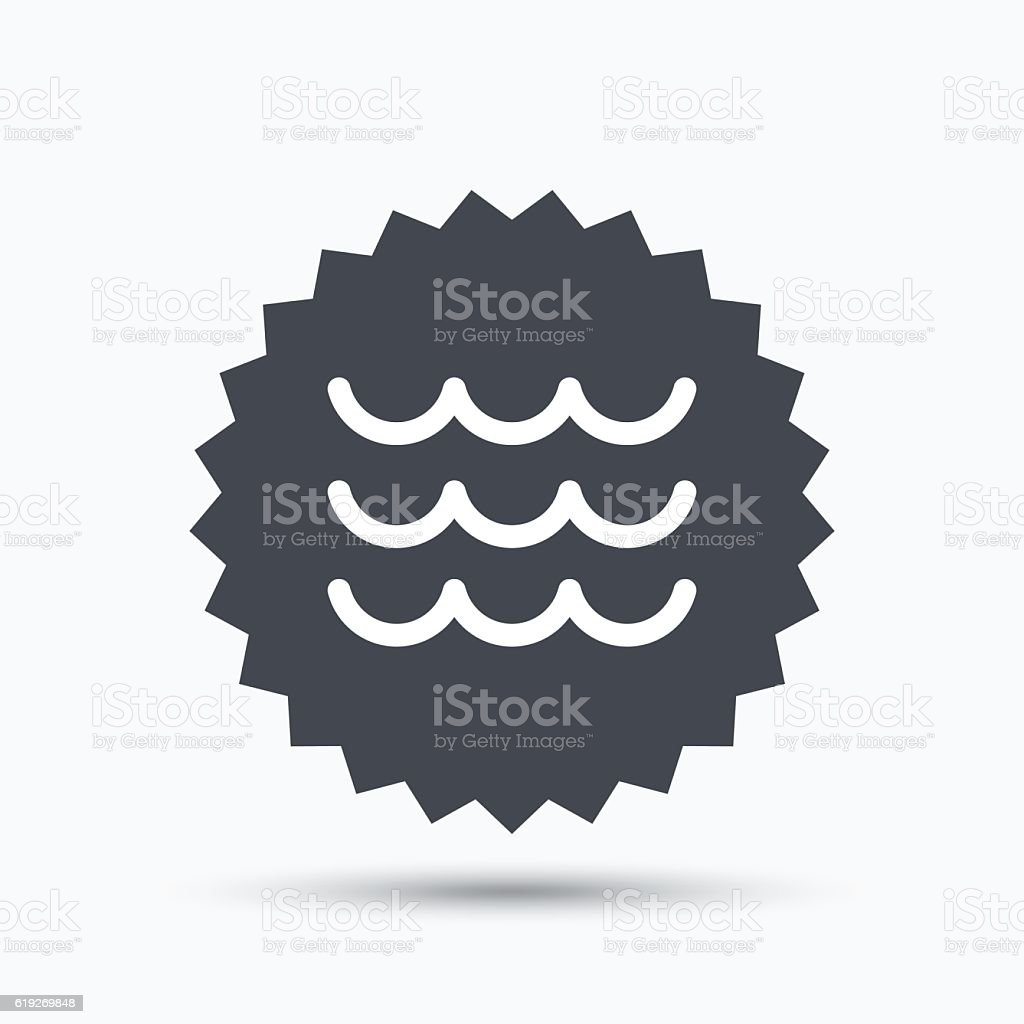 Wave icon. Water stream sign. vector art illustration