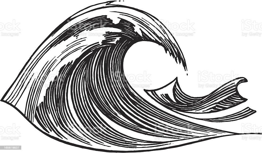 Wave - Ocean, Sea royalty-free stock vector art