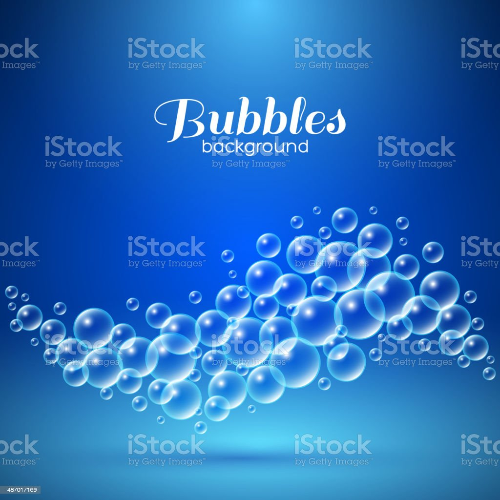 Wave of Air Bubbles vector art illustration