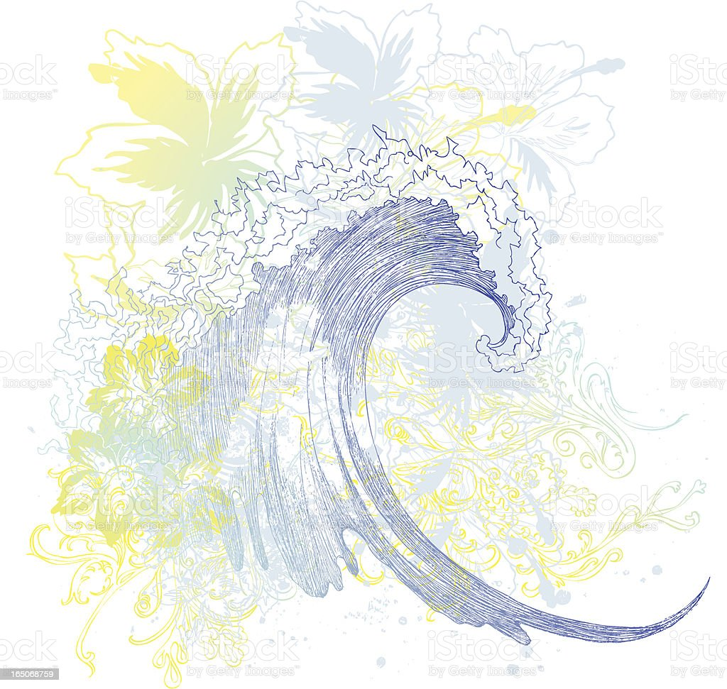 wave of summer royalty-free stock vector art