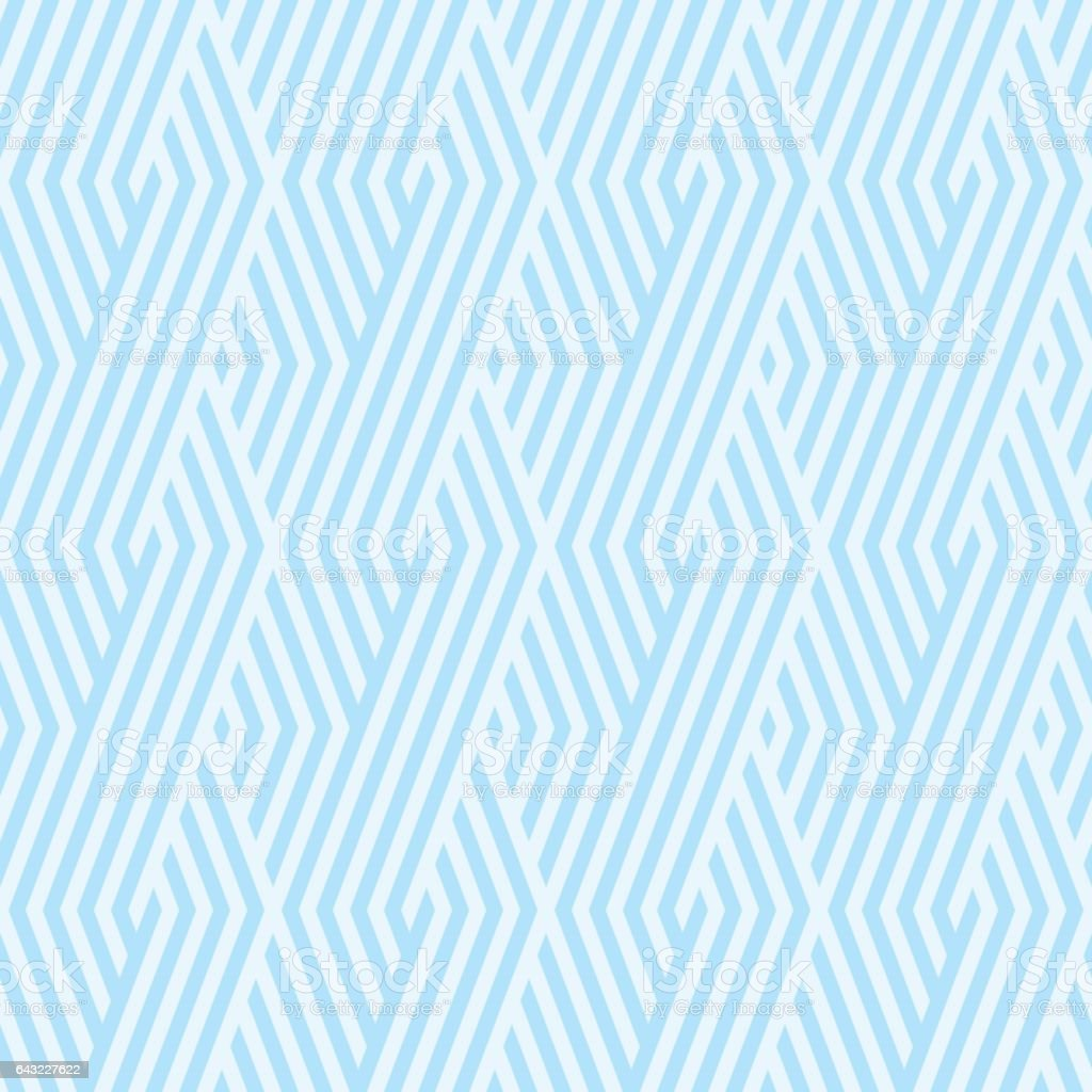 Wave Pattern stripe seamless sweet blue two tone colors. Pattern stripe chevron abstract background vector. vector art illustration