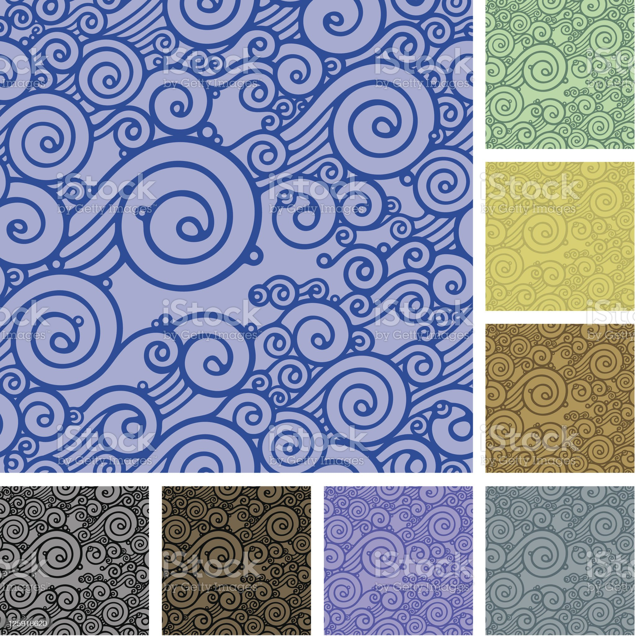 wave seamless pattern royalty-free stock vector art