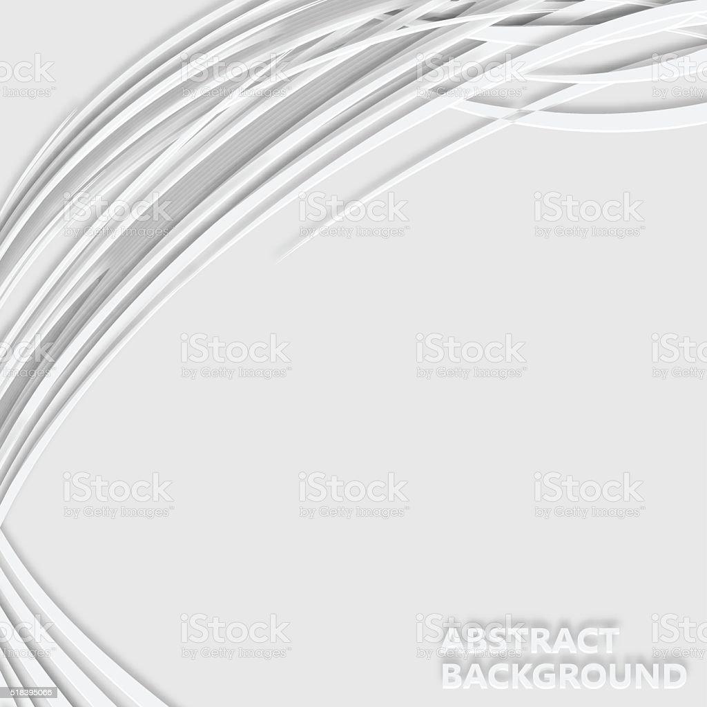 3D wave stripe pattern background vector art illustration