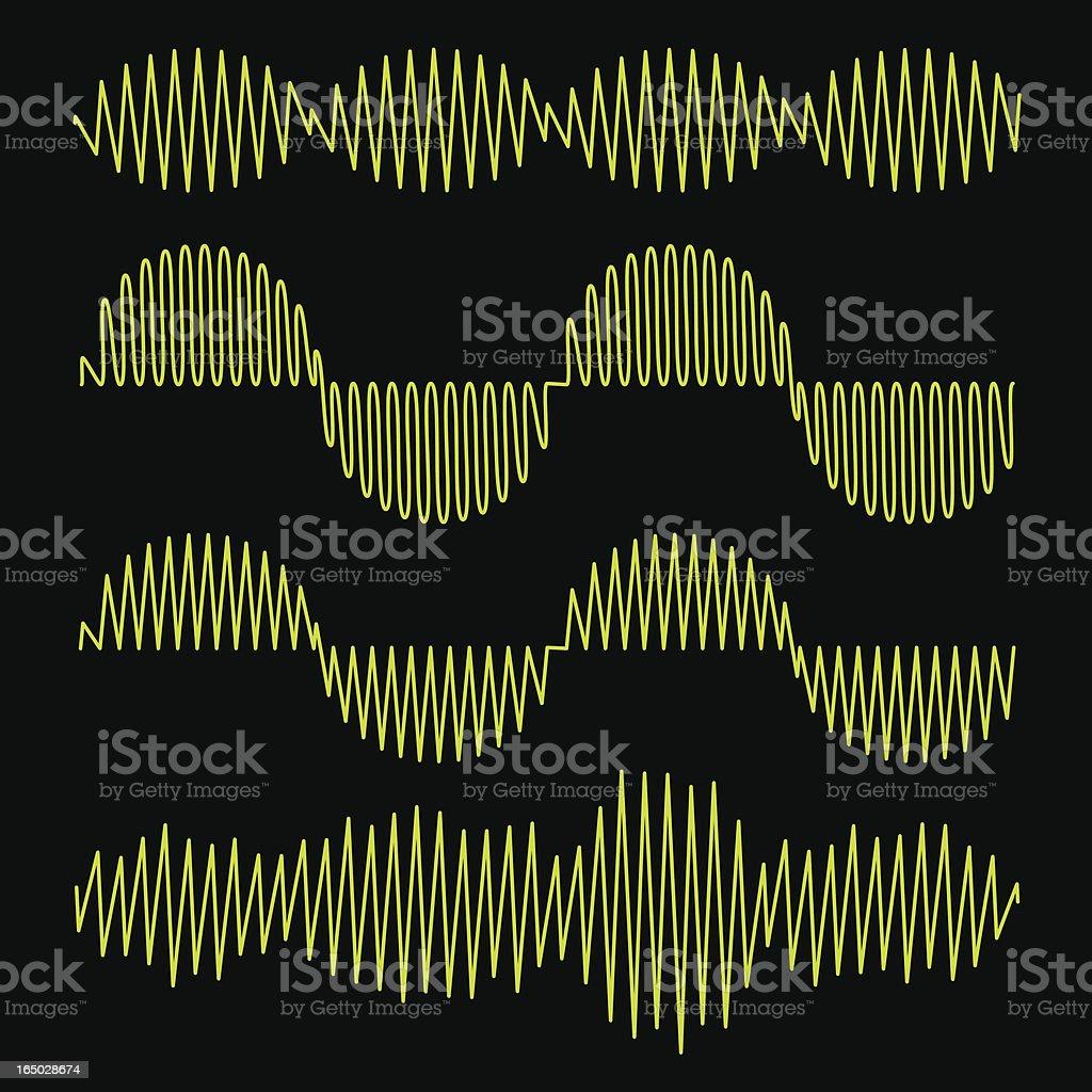 Waveforms - vector royalty-free stock vector art