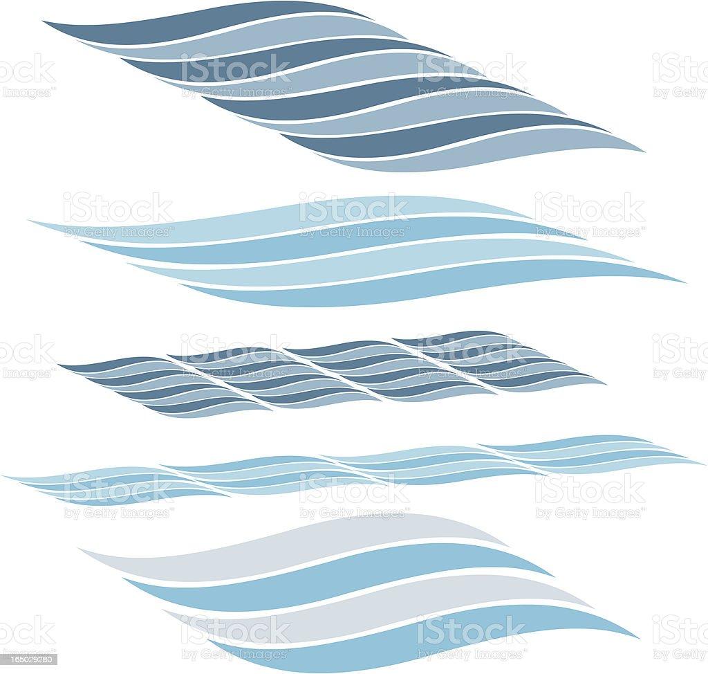 Waves 3 vector art illustration