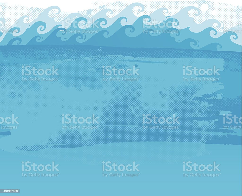 Waves background royalty-free stock vector art