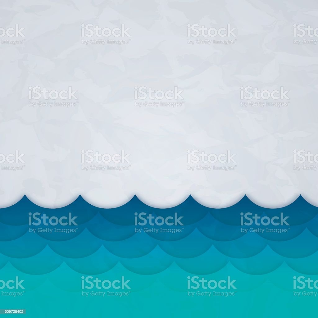 Waves Background vector art illustration