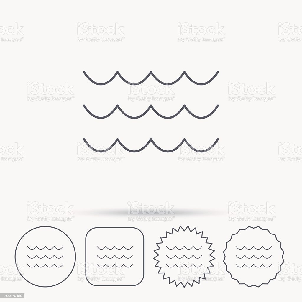 Waves icon. Sea flowing sign. vector art illustration