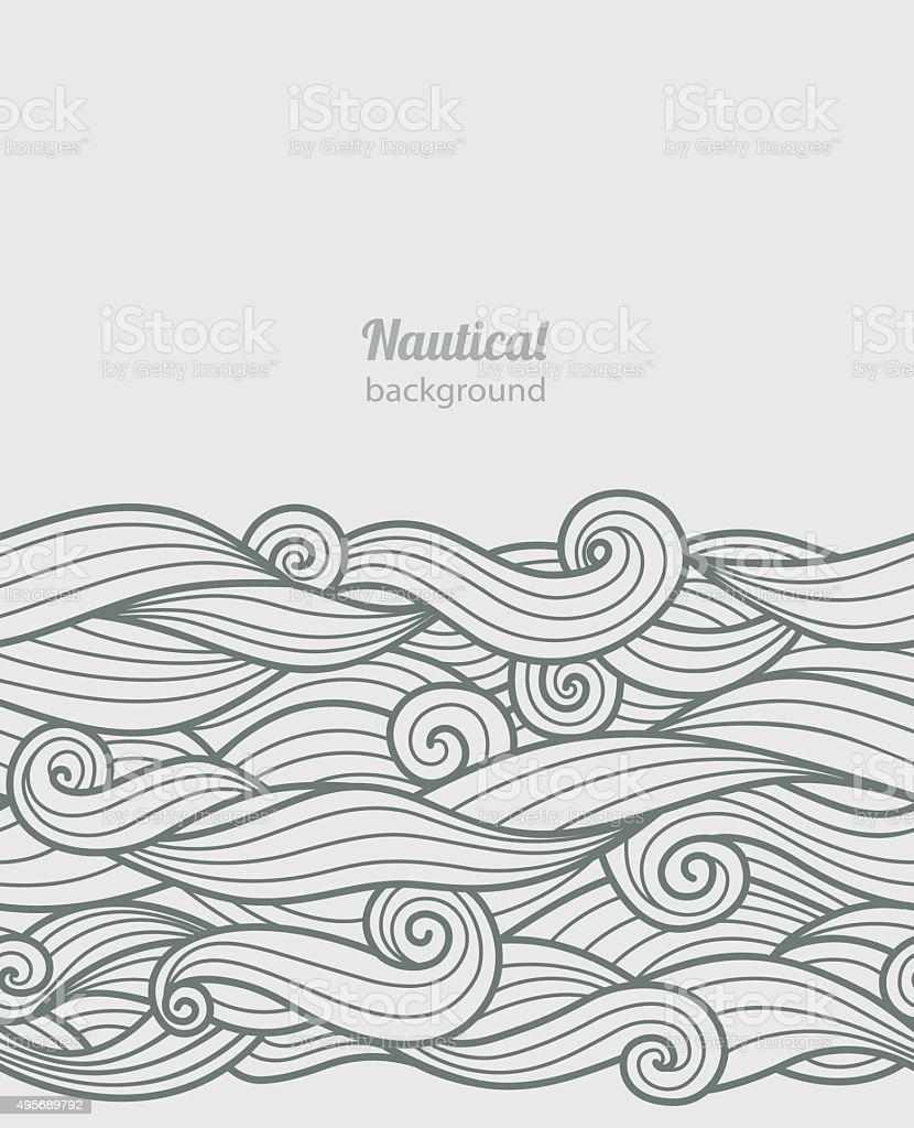 Waves pattern vector art illustration
