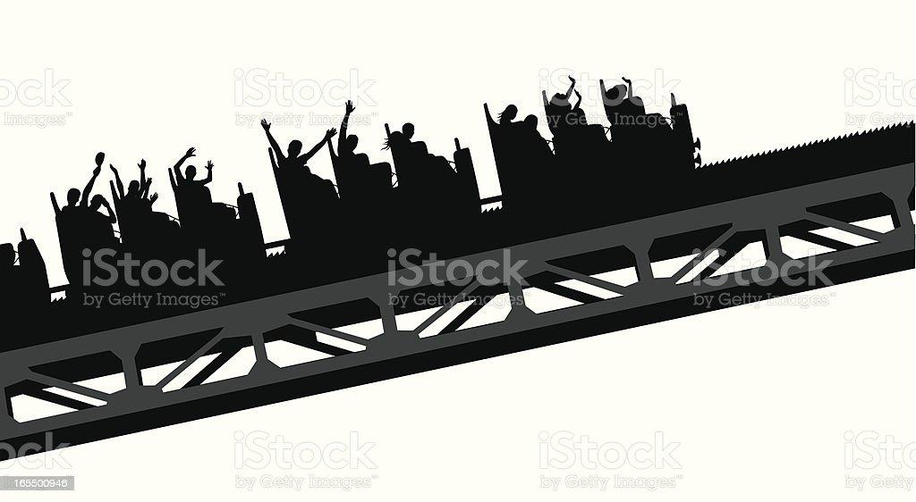 Wavey Coaster Vector Silhouette royalty-free stock vector art