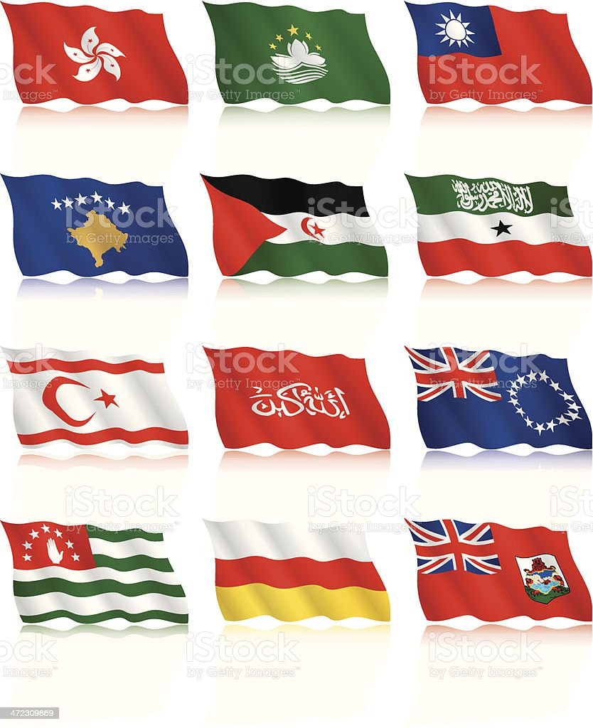 Waving Flags Collection - additional countries royalty-free stock vector art