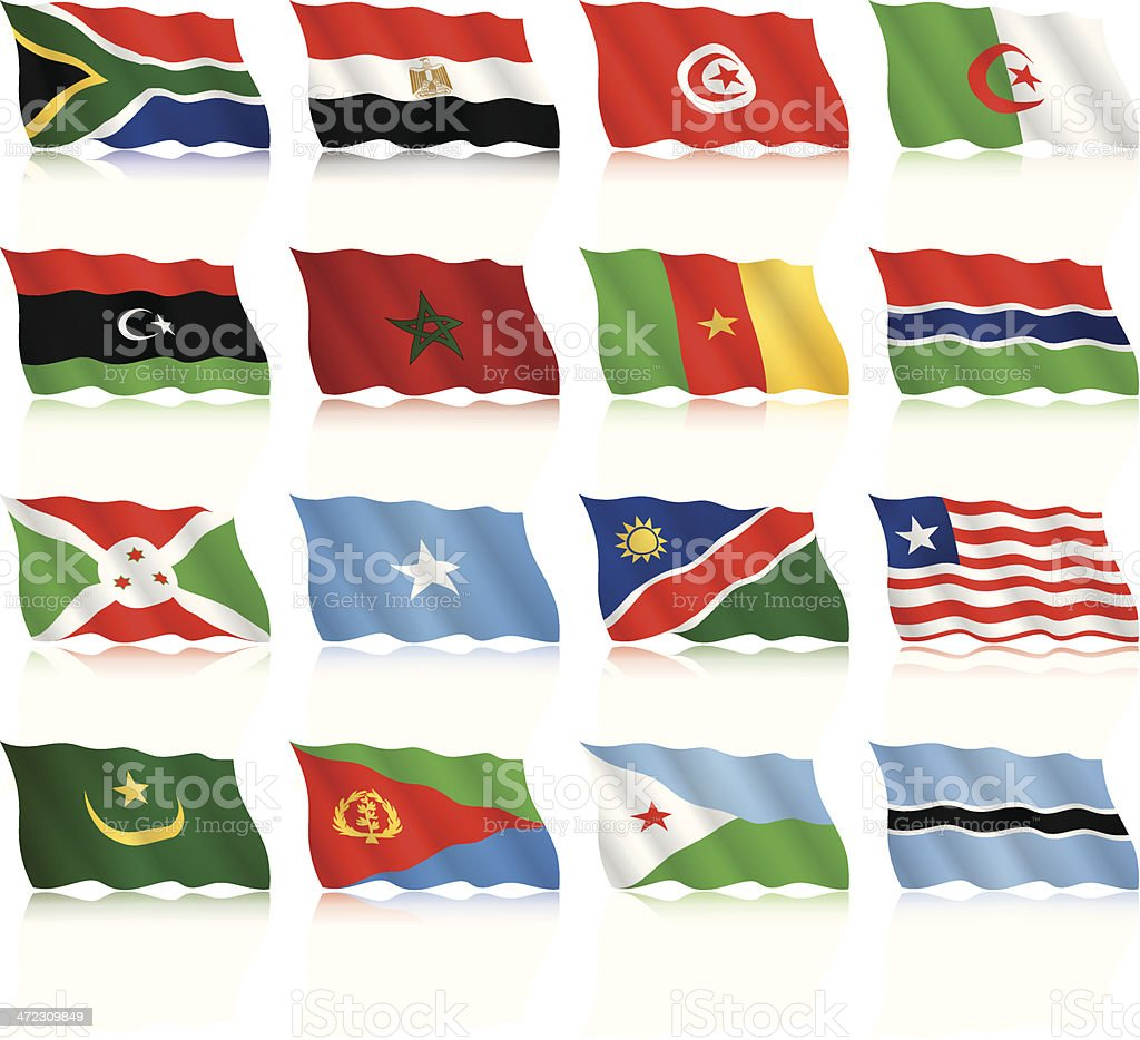 Waving Flags Collection - Africa royalty-free stock vector art