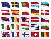 Waving Flags of Europe.