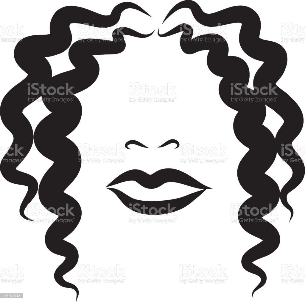Wavy Beauty vector art illustration
