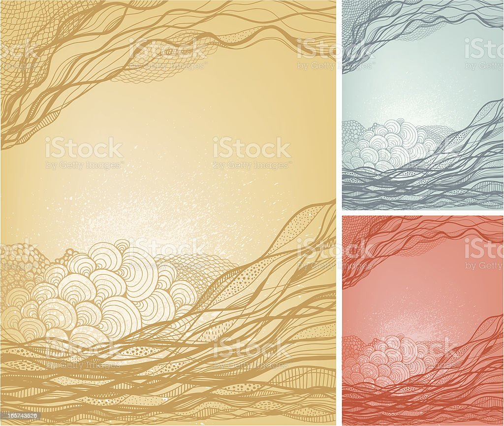 Wavy doodle background royalty-free stock vector art