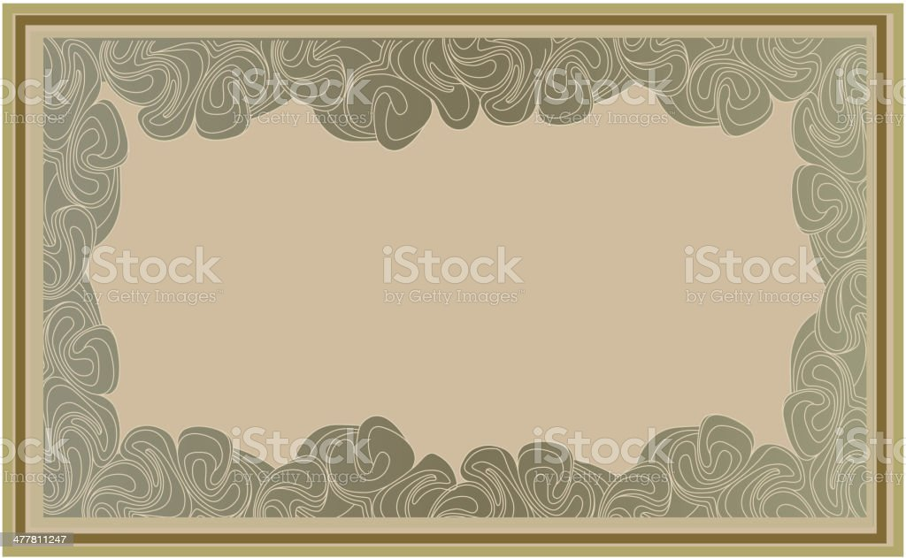 Wavy geometric frame in art deco style. royalty-free stock vector art