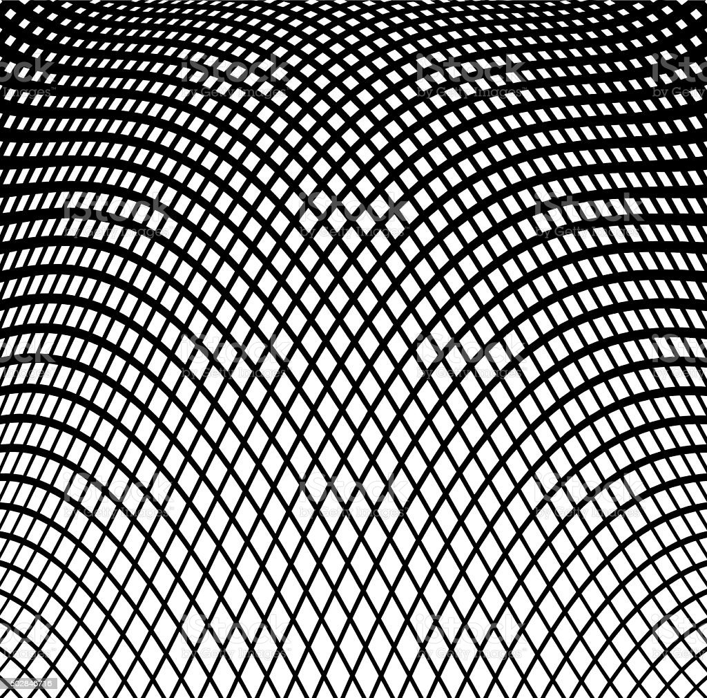 Wavy Grid Halftone Pattern Background vector art illustration