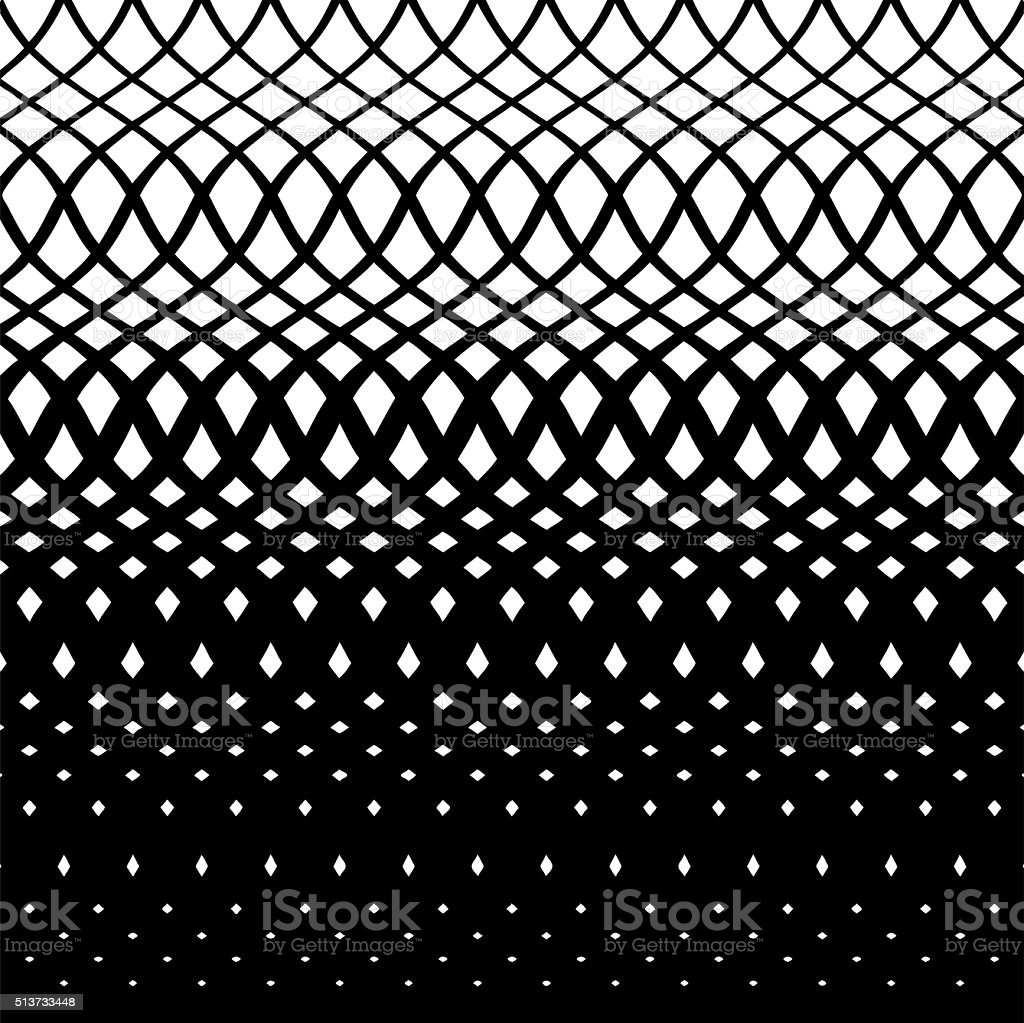Wavy Steps Halftone Pattern vector art illustration