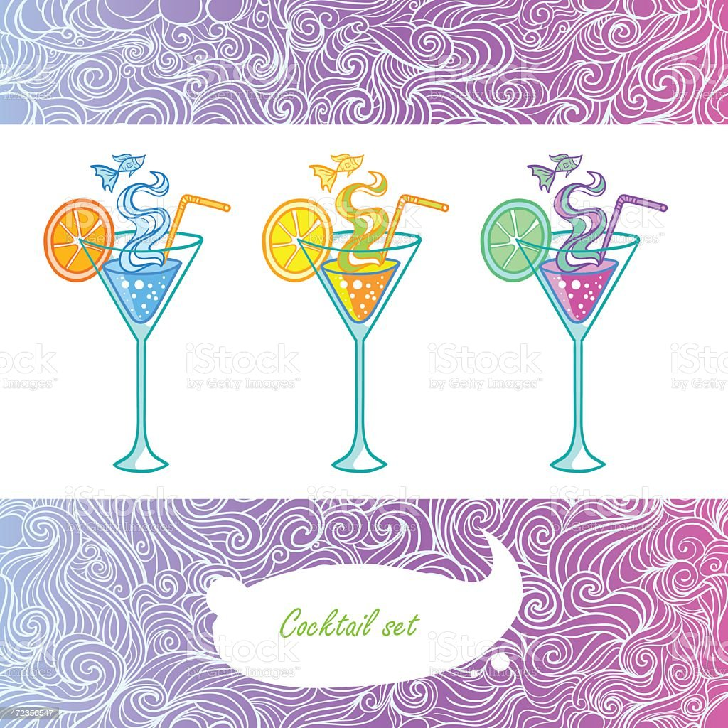 Wavy summer cocktail royalty-free stock vector art