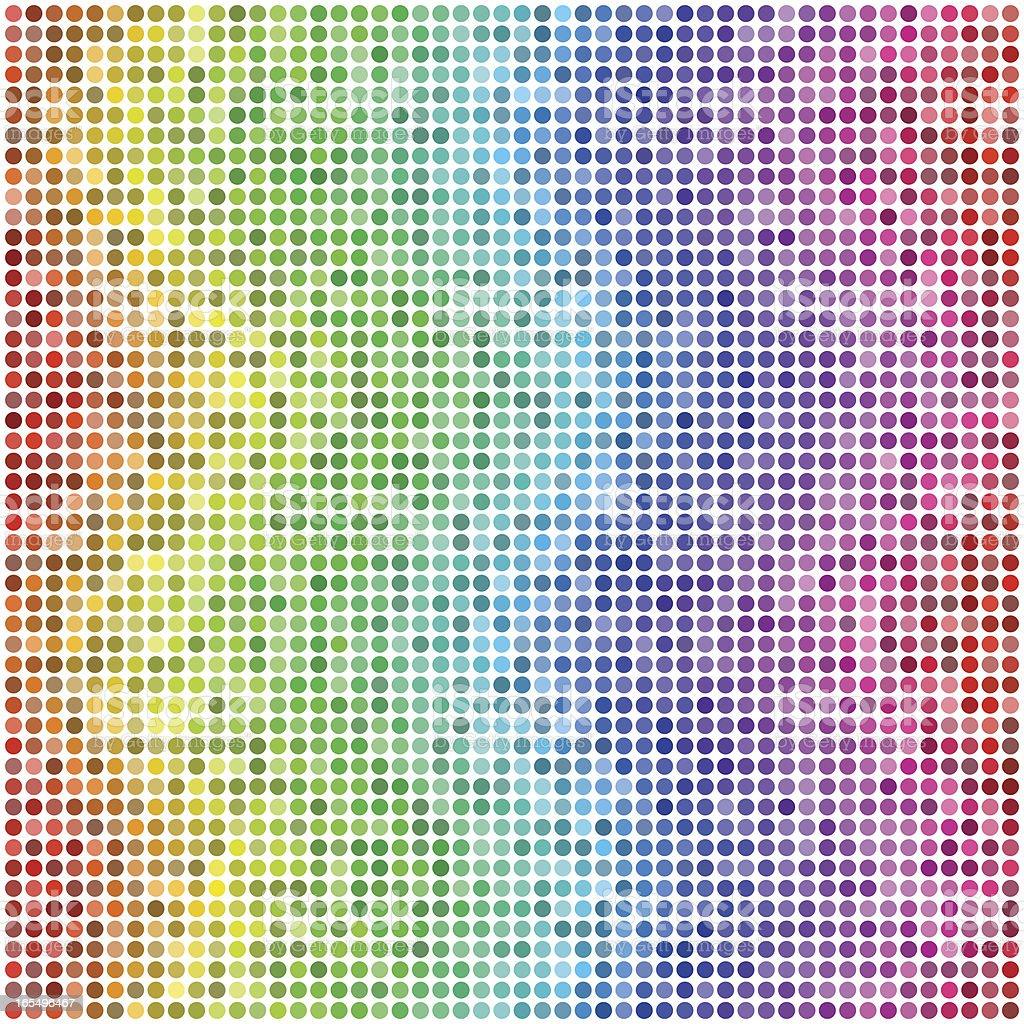 Wavy Waves: Retro Vector Dots #2 royalty-free stock vector art