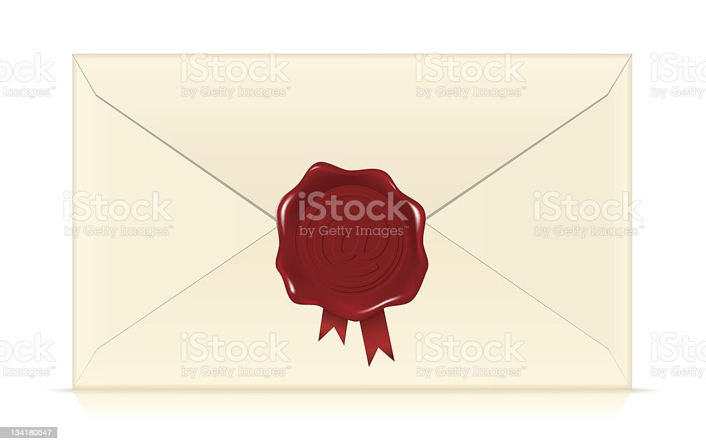 Wax Seal Envelope royalty-free stock vector art