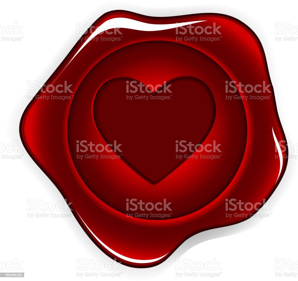 wax seal heart vector illustration royalty-free stock vector art