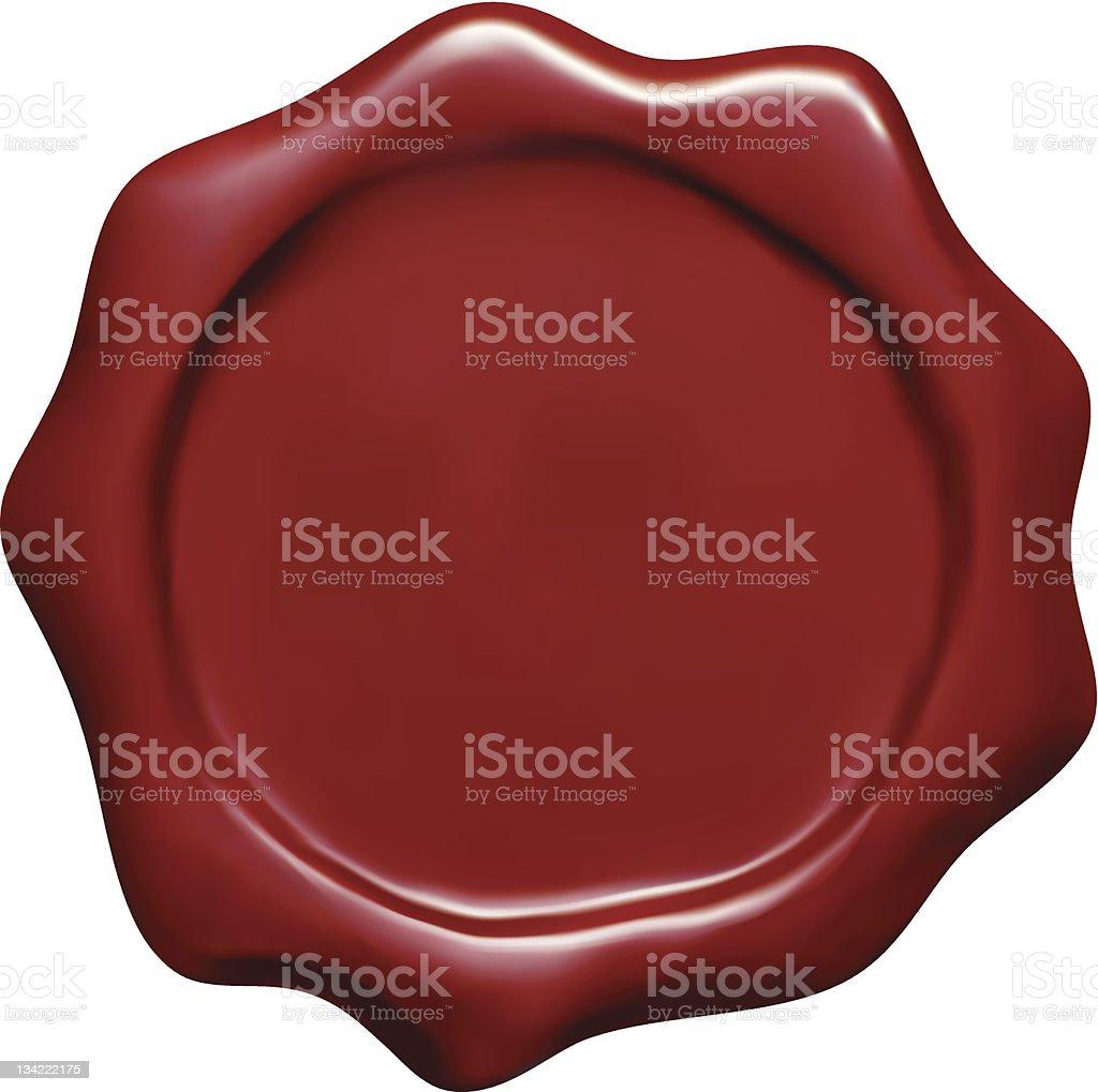 Wax Seal royalty-free stock vector art
