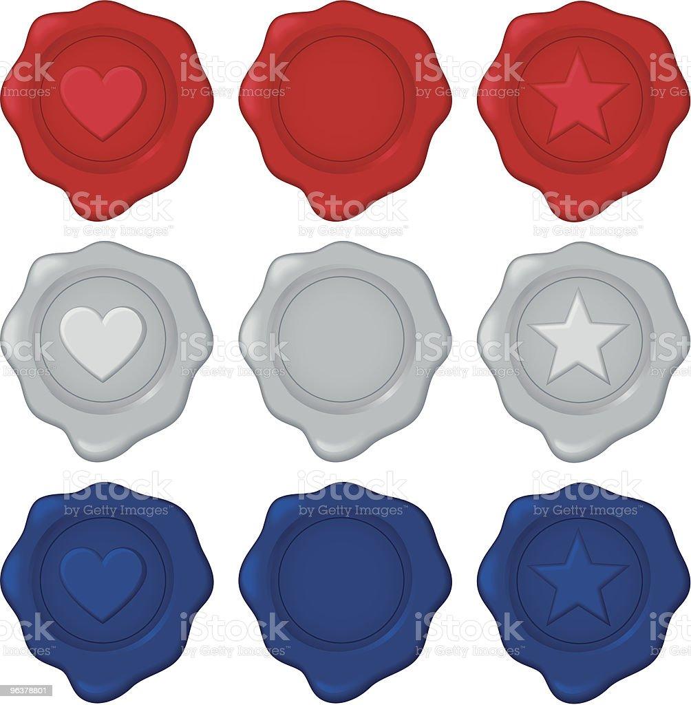 Wax Seals vector art illustration