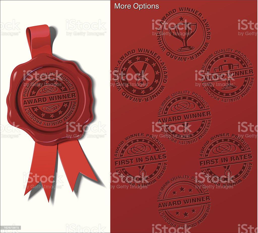 Wax Shield - Award Winner vector art illustration