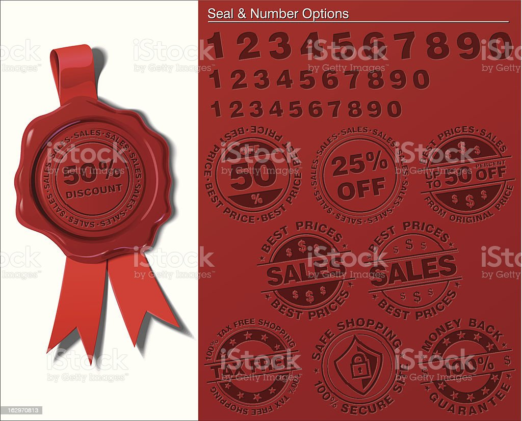 Wax Shield - Sales and Tax Free royalty-free stock vector art