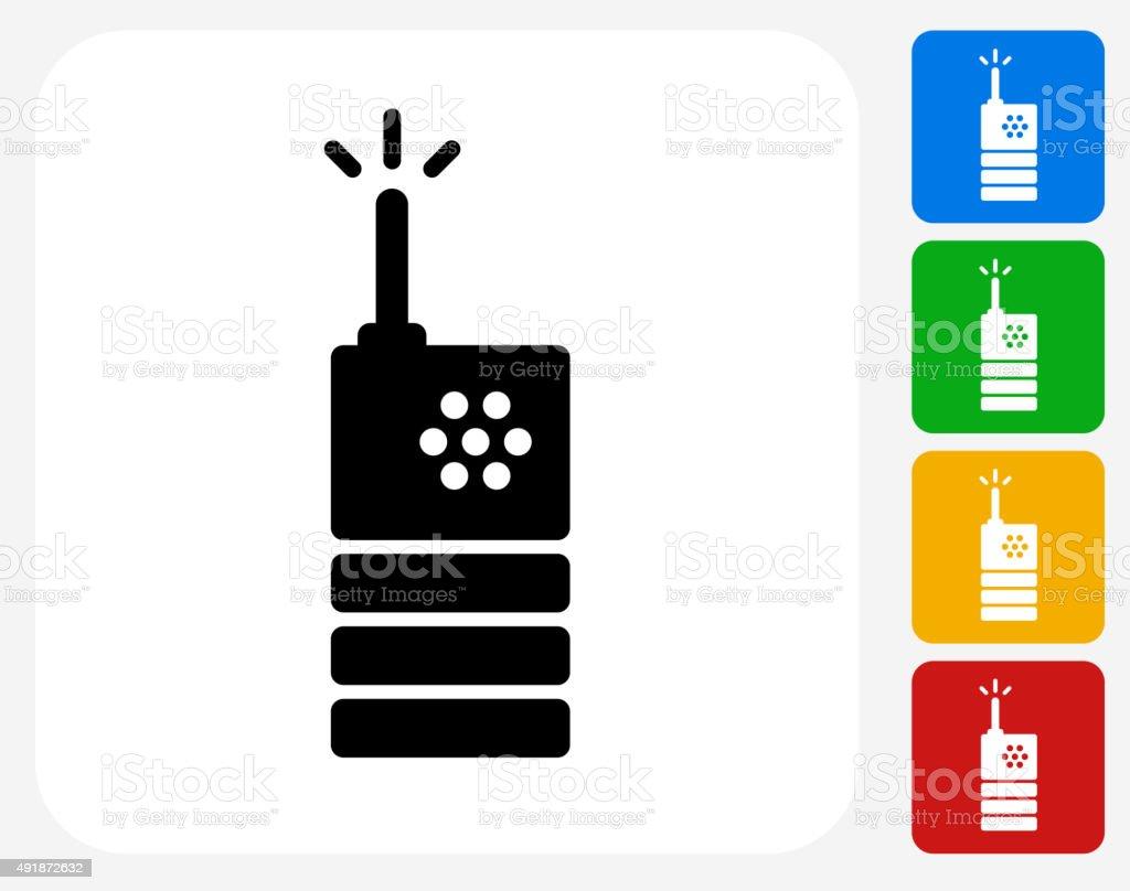 2 Way Radio Icon Flat Graphic Design vector art illustration
