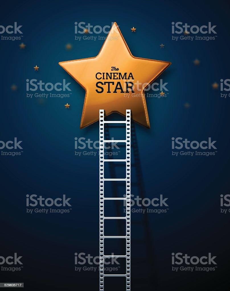 Way to the Stars of Cinema vector art illustration