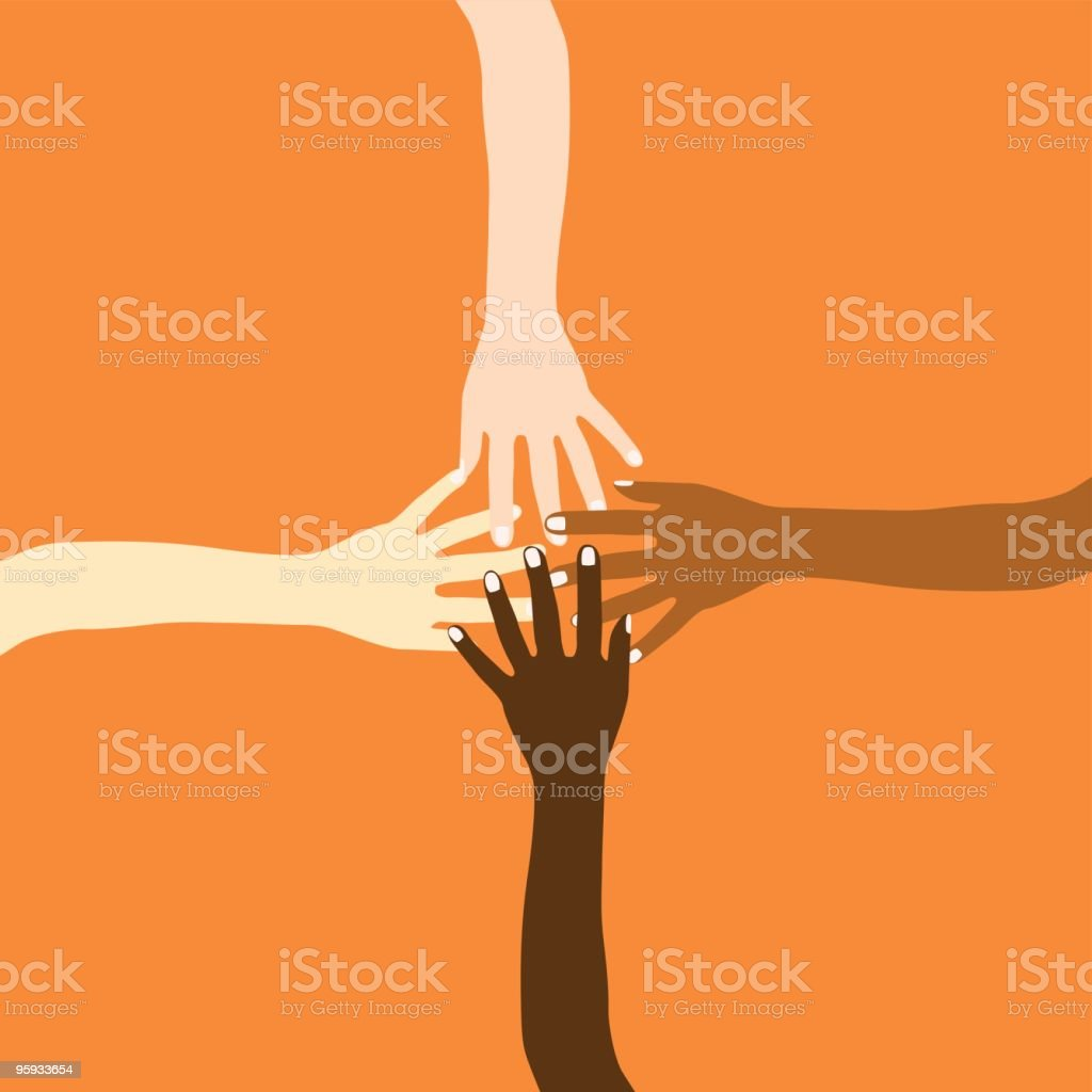 We are all the same! vector art illustration