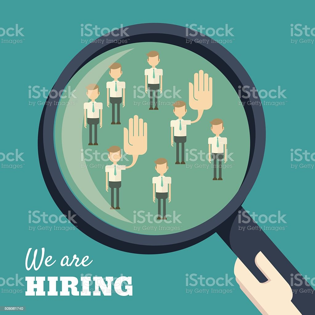 we are hiring concept vector art illustration