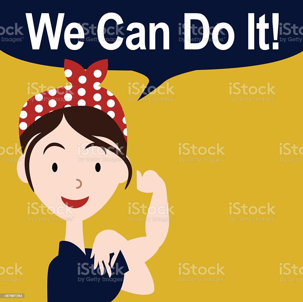 We can do it cartoon poster EPS 10 vector vector art illustration